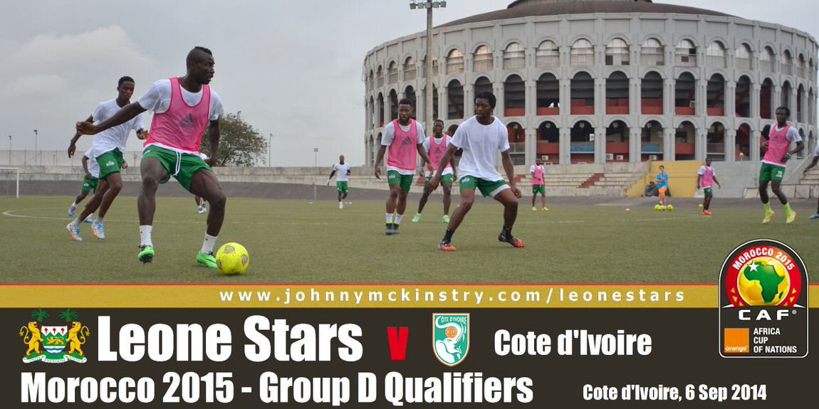 Leone Stars Training ahead of Ivory Coast away encounter (6 Sep 2014)