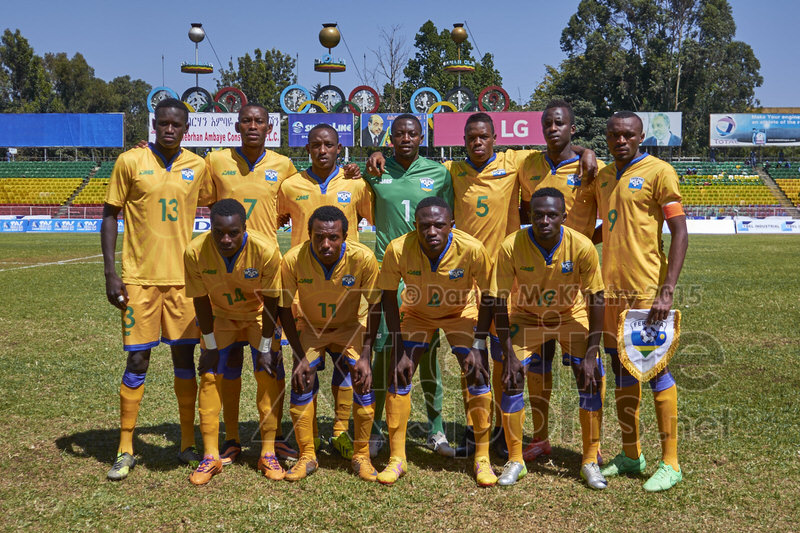 Starting Squad [Rwanda vs Sudan, CECAFA 2015, Semi final, 3 Dec 2015 in Addis Ababa, Ethiopia.  Photo © Darren McKinstry 2015, www.XtraTimeSports.net]