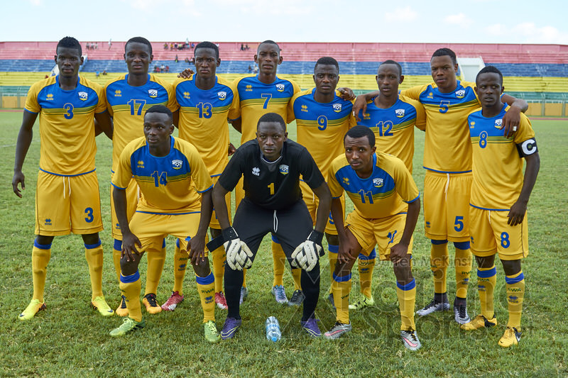 Amavubi Starting Eleven [Mauritius V Rwanda, AFCON 2017 Qualifier, 26 March 2016 in Mauritius.  Photo © Darren McKinstry 2016, www.XtraTimeSports.net]