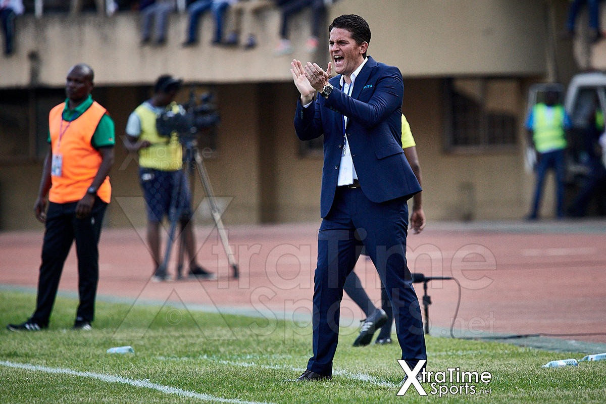 Kampala, Uganda. 17 Nov 2019.  Johnathan McKinstry (Head Coach, Uganda).  Uganda v Malawi, CAF Nations Cup / African Cup of Nations Qualifier.  Nelson Mandela Stadium at Namboole.  Credit: XtraTimeSports (Darren McKinstry)