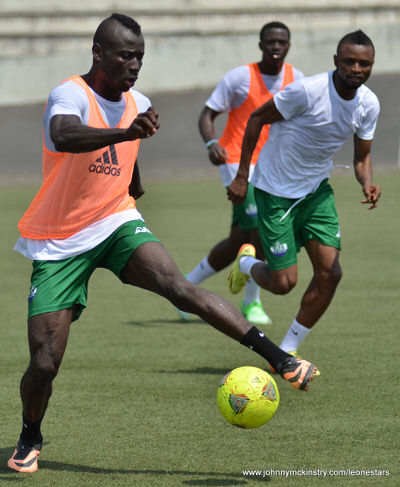 Alhaji Kamara  [Training camp ahead of Leone Stars v Ivory Coast on 6 September 2014 (Pic © Darren McKinstry / www.johnnymckinstry.com)]