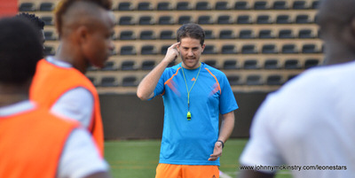 Coach McKinstry   [Training camp ahead of Leone Stars v DR Congo on 10 September 2014 (Pic © Darren McKinstry / www.johnnymckinstry.com)]