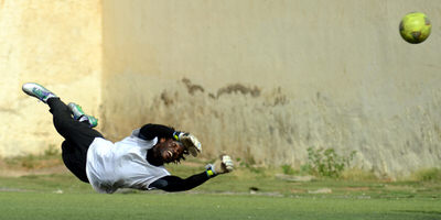 Solomon 'Zombo' Morris (Goalkeeper)  [Leone Stars Training Camp, Cape Verde, June 2013 (Pic: Darren McKinstry)]